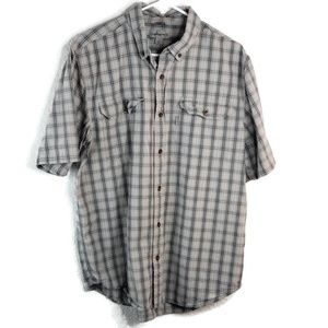 Carhartt relaxed fit L button down short sleeve